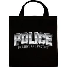 PRINTFASHION Police felirat - Vászontáska - Fekete