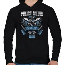 PRINTFASHION Police Medic - Férfi kapucnis pulóver - Fekete