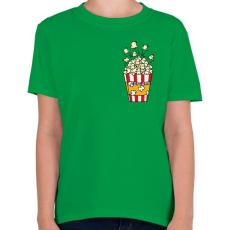 PRINTFASHION Popcorn zseb - Gyerek póló - Zöld
