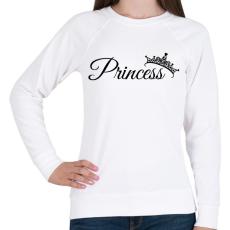 PRINTFASHION Princess - Női pulóver - Fehér