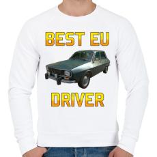 PRINTFASHION PUBG - Best EU Driver - Férfi pulóver - Fehér