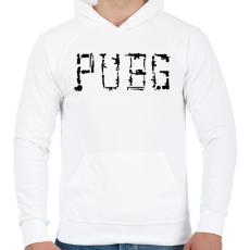 PRINTFASHION PUBG fegyverek - Férfi kapucnis pulóver - Fehér