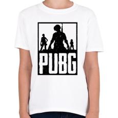 PRINTFASHION PUBG - Gyerek póló - Fehér
