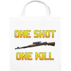 PRINTFASHION PUBG - One Shot, One Kill - Vászontáska - Fehér
