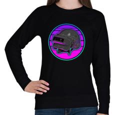 PRINTFASHION PUBG sisak - Női pulóver - Fekete