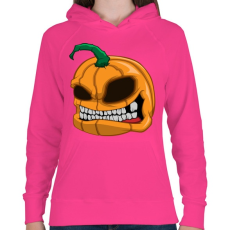 PRINTFASHION Pumpkin - Női kapucnis pulóver - Fukszia