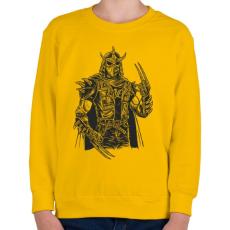 PRINTFASHION Punk zúzó - Gyerek pulóver - Sárga