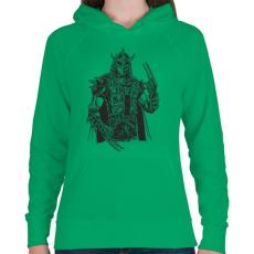 PRINTFASHION Punk zúzó - Női kapucnis pulóver - Zöld
