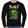 PRINTFASHION Punks not dead - Férfi pulóver - Fekete