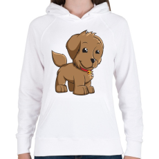 PRINTFASHION Puppy - Női kapucnis pulóver - Fehér