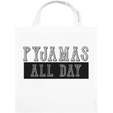 PRINTFASHION Pyjamas all day - Vászontáska - Fehér