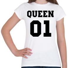 PRINTFASHION Queen - Női póló - Fehér