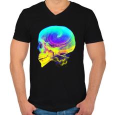 PRINTFASHION Radikális gondolatok - Férfi V-nyakú póló - Fekete