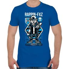 PRINTFASHION Rappin - Férfi póló - Királykék