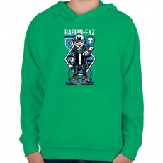 PRINTFASHION Rappin - Gyerek kapucnis pulóver - Zöld
