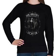 PRINTFASHION Real Gangster's Don't Die - Női pulóver - Fekete
