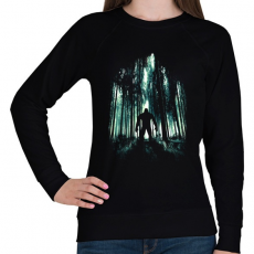 PRINTFASHION Rejtélyes alak - Női pulóver - Fekete