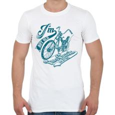 PRINTFASHION Retro bicikli - Férfi póló - Fehér