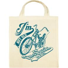 PRINTFASHION Retro bicikli - Vászontáska - Natúr