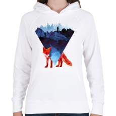 PRINTFASHION Risky road - Női kapucnis pulóver - Fehér