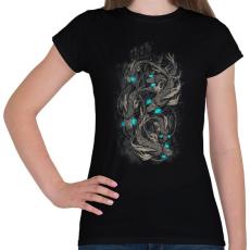 PRINTFASHION Robothalak - Női póló - Fekete