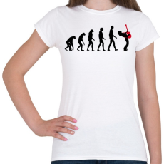 PRINTFASHION Rock evolúció - Női póló - Fehér