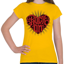PRINTFASHION Rock on - Női póló - Sárga női póló