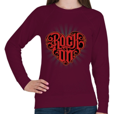 PRINTFASHION Rock on - Női pulóver - Bordó