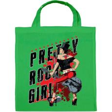 PRINTFASHION Rocker lány  - Vászontáska - Zöld