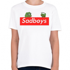 PRINTFASHION sadboyís - Gyerek póló - Fehér