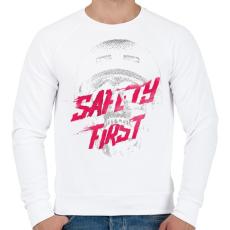 PRINTFASHION Safety first - Férfi pulóver - Fehér