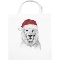 PRINTFASHION Santa lion - Vászontáska - Fehér