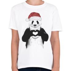 PRINTFASHION Santa panda - Gyerek póló - Fehér