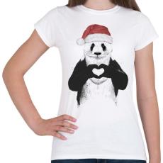 PRINTFASHION Santa panda - Női póló - Fehér