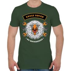 PRINTFASHION Sas osztag - Férfi póló - Katonazöld