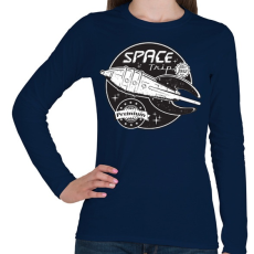 PRINTFASHION Sci-fi jelvény - Női hosszú ujjú póló - Sötétkék