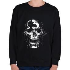 PRINTFASHION Scream - Gyerek pulóver - Fekete