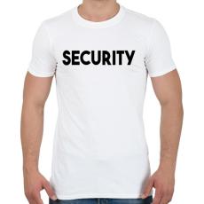 PRINTFASHION SECURITY - Férfi póló - Fehér