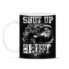 PRINTFASHION Shut up and lift - Bögre - Fekete