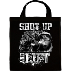 PRINTFASHION Shut up and lift - Vászontáska - Fekete