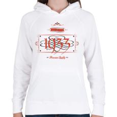 PRINTFASHION since-1933-red-black - Női kapucnis pulóver - Fehér