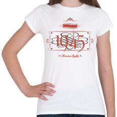 PRINTFASHION since-1945-red-black - Női póló - Fehér