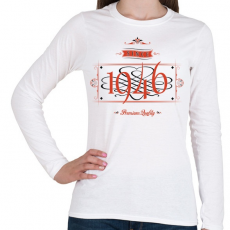 PRINTFASHION since-1946-red-black - Női hosszú ujjú póló - Fehér