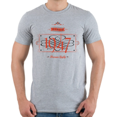 PRINTFASHION since-1947-red-black - Férfi póló - Sport szürke