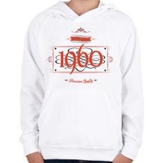 PRINTFASHION since-1960-red-black - Gyerek kapucnis pulóver - Fehér