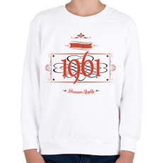 PRINTFASHION since-1961-red-black - Gyerek pulóver - Fehér