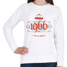 PRINTFASHION since-1966-red-black - Női pulóver - Fehér