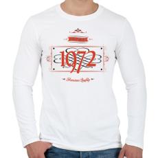 PRINTFASHION since-1972-red-black - Férfi hosszú ujjú póló - Fehér
