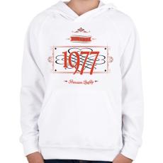 PRINTFASHION since-1977-red-black - Gyerek kapucnis pulóver - Fehér