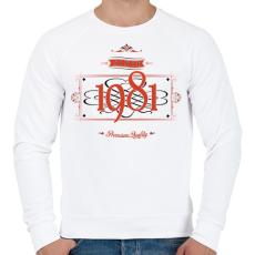 PRINTFASHION since-1981-red-black - Férfi pulóver - Fehér